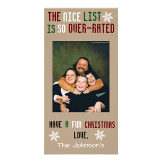 Funny Customizable Christmas Photo Cards