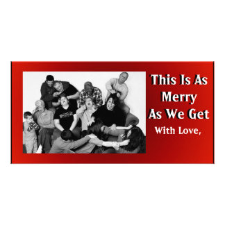 Funny Customizable Family Christmas Photo Photo Card Template