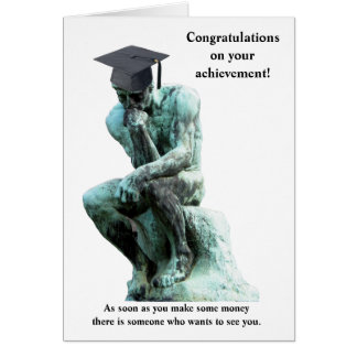 Funny Customizable Graduation Card