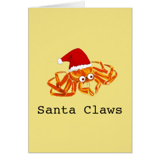 Funny Customizable 'Santa Claws' christmas Card
