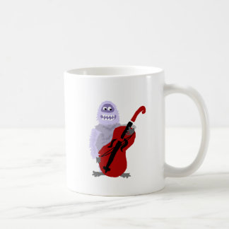 Funny Cute Abominable Snowman with Cello Coffee Mug