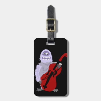 Funny Cute Abominable Snowman with Cello Luggage Tag