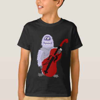 Funny Cute Abominable Snowman with Cello T-Shirt