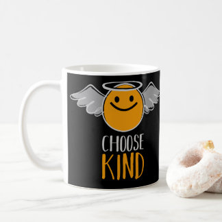 Funny Cute Angel Emoticon Choose Kind Coffee Mug