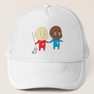 Funny Cute Babies Little St. Nicholas and Friend Trucker Hat