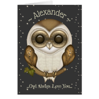 Funny Cute Baby Barn Owl Card