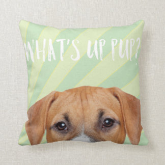 Funny Cute Boxer Dog With Rays of Sunshine Throw Pillow