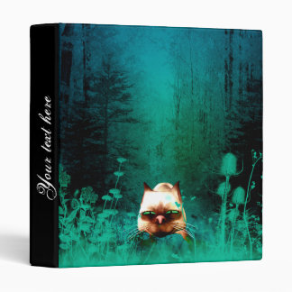 Funny, cute cartoon cat vinyl binder