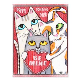 Funny & Cute Cat Valentine Flat Card Post Card
