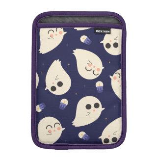 Funny cute chibi Halloween ghosts navy blue iPad Mini Sleeve