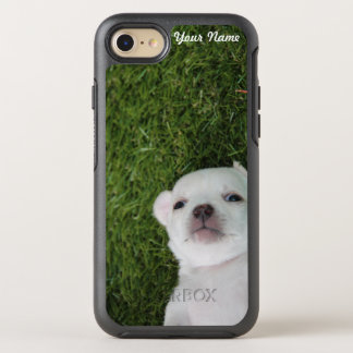 Funny Cute Chihuahua Puppy Dog Your Name & Photo OtterBox Symmetry iPhone 7 Case