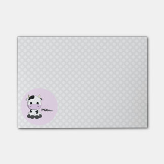 Funny cute cow cartoon polka dot girls post-it notes