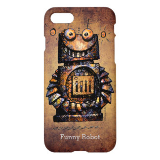 Funny Cute Custom Rusty Robot iPhone 7 Case