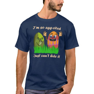 Funny Cute Easter Eggs Cartoon T-Shirt