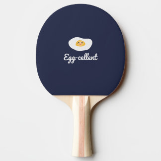 Funny Cute Egg Eggcellent Humorous Food Pun Fun Ping Pong Paddle