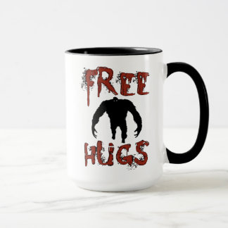 Funny Cute Free Hugs Monster Mug for Halloween