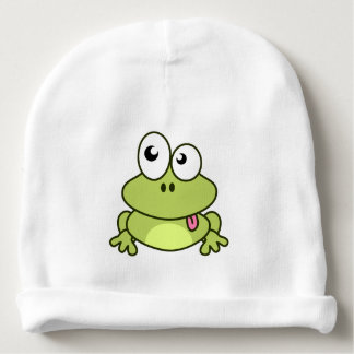 Funny cute frog cartoon baby beanie