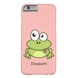 Funny cute frog cartoon kids barely there iPhone 6 case