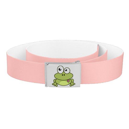 Funny cute frog cartoon kids belt