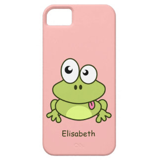 Funny cute frog cartoon kids case for the iPhone 5