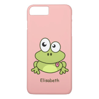 Funny cute frog cartoon kids iPhone 7 plus case