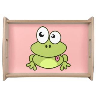 Funny cute frog cartoon kids service trays