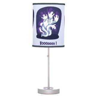 Funny cute ghosts halloween cartoon table lamp