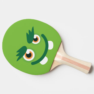 Funny Cute Green Monster. Ping Pong Paddle