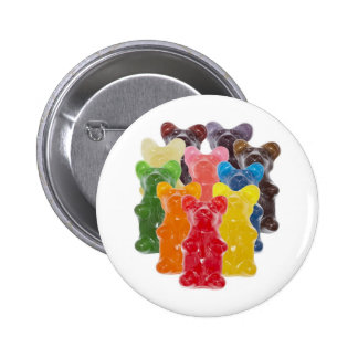 Funny Cute Gummy bear Herds 2 Inch Round Button