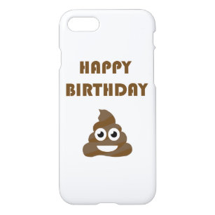 Funny Cute Happy Birthday Party Poop Emoji IPhone 8 7 Case