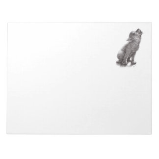 Funny Cute Howling Wolf Notepads