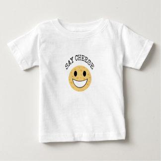 funny cute joke say cheese baby T-Shirt