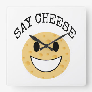 funny cute joke say cheese clocks
