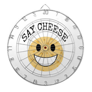 funny cute joke say cheese dartboard