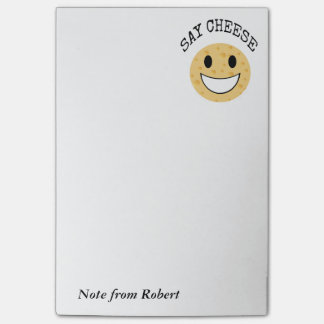 funny cute joke say cheese post-it notes