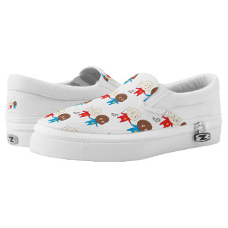 Funny Cute Kids Art Baby St. Nicholas and Friend Slip-On Sneakers