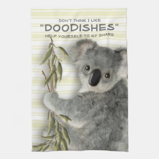 Funny Cute Koala Kitchen Towel