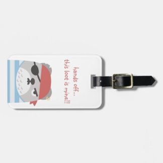 Funny, Cute Luggage Tag with Leather Strap
