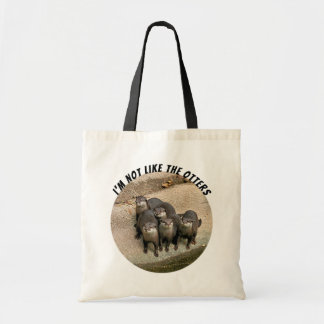 Funny Cute Otters Pun Tote Bag