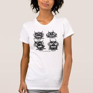Funny cute owls pen ink drawing art t-shirt