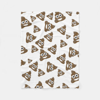 Funny Cute Poop Emoji Pattern Fleece Blanket