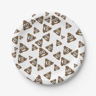 Funny Cute Poop Emoji Pattern Paper Plate