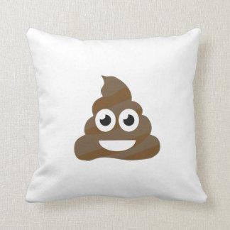 Funny Cute Poop Emoji Throw Pillow