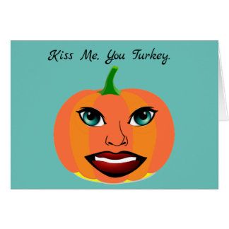 Funny Cute Pumpkin Customizable Card