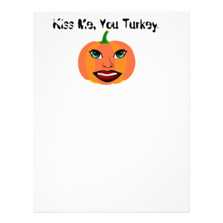 Funny Cute Pumpkin Customizable Letterhead