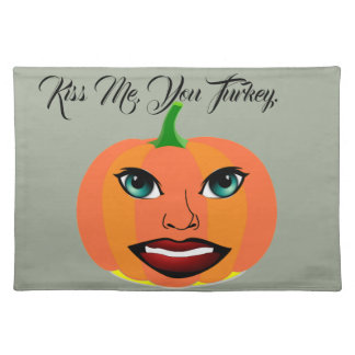 Funny Cute Pumpkin Customizable Placemat