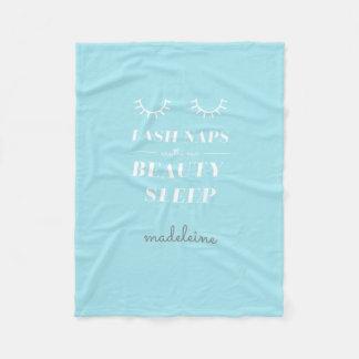 Funny Cute Quote Lash Nap Blanket