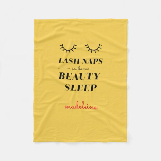 Funny Cute Quote Lash Nap Blanket Mustard Yellow