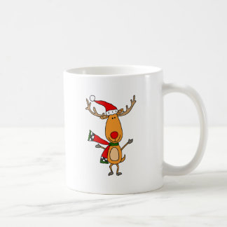 Funny Cute Rudolph Red-Nosed Reindeer Coffee Mug