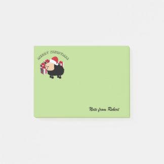 Funny cute Santa cartoon sheep Christmas Post-it Notes